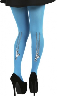 Collant chat turquoise