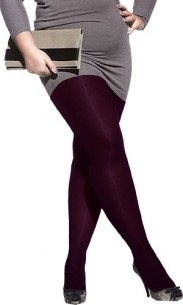 Collant grande taille prune