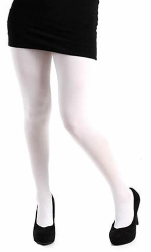 collant grande taille opaque blanc collants fantaisie. Black Bedroom Furniture Sets. Home Design Ideas
