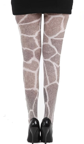 collant grande taille imitation fourrure de girafe collants fantaisie. Black Bedroom Furniture Sets. Home Design Ideas