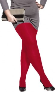 Collant grande taille rouge vif