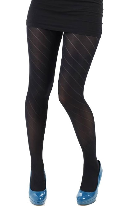 Collant fantaisie opaque diagonale noir 832d1f1854f