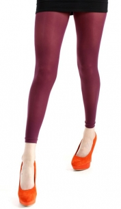 Collant sans pied bordeaux